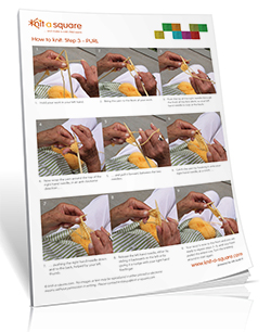 Learn how to knit by learning how to purl