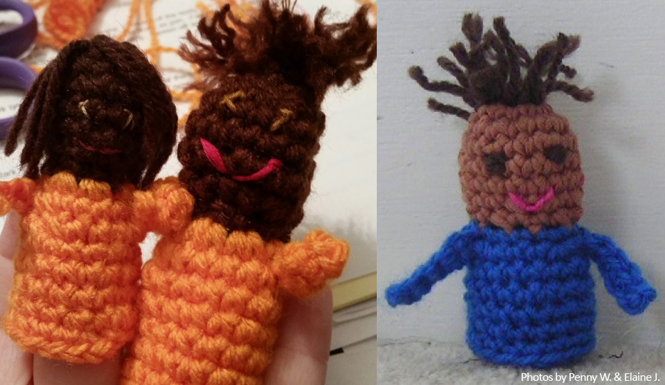 Free Crochet Pattern Bad Hair Day Finger Puppet Knit A Square