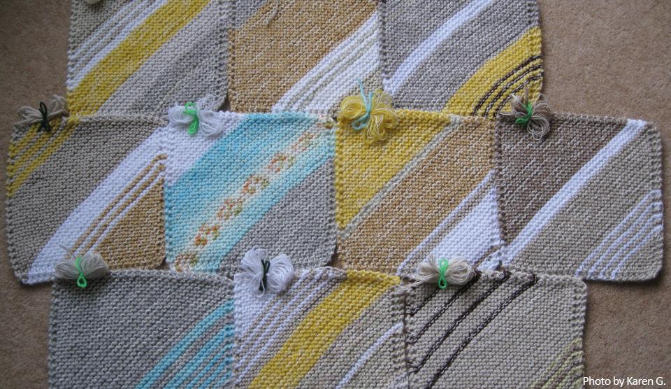 Free knitting pattern: Diagonal Square
