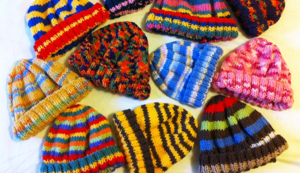 Free Knitting Pattern Simple Beanie Knit A Square
