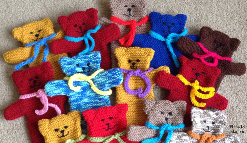 Free Knitting Pattern Teddy Hand Puppet Knit A Square