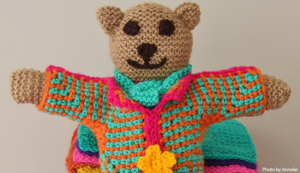 Free Knitting Pattern Teddy Bear Knit A Square