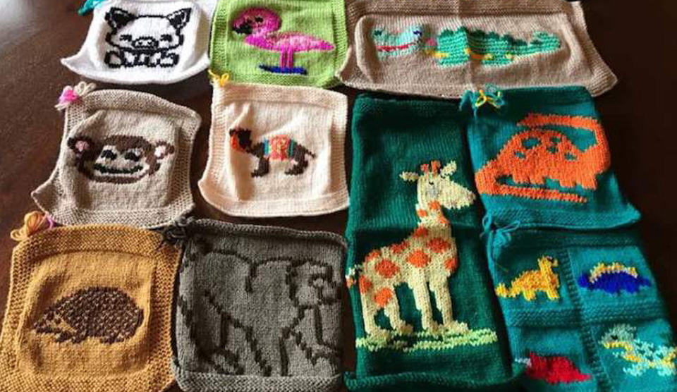 Knit-a-square monthly themes