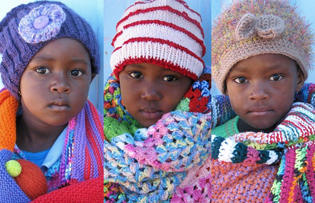 orphaned or vulnerable children in blankets