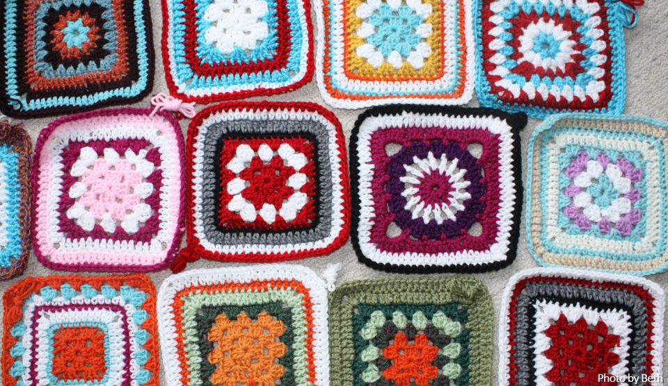 Crochet A Granny Square For Knit A Square With This Free Crochet Pattern