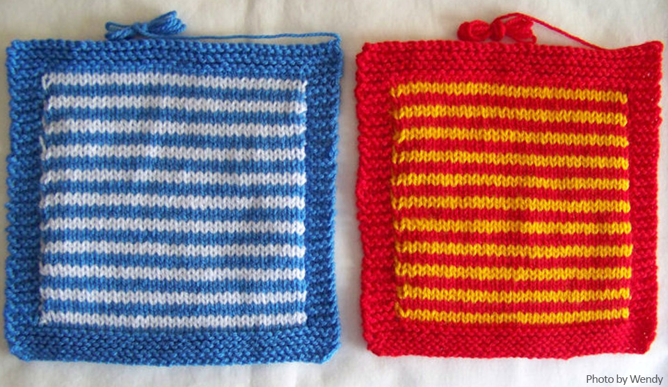 Free Crochet And Knitting Patterns Knit A Square
