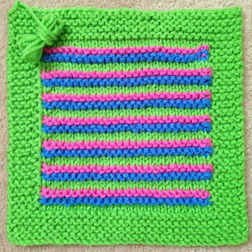 Framed Stripes Square