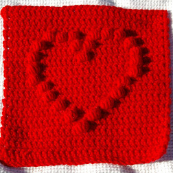 Puffed Heart Square