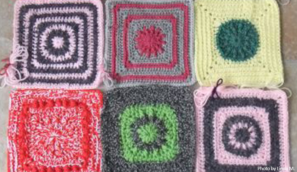 Free Crochet Pattern Solid Square Knit A Square