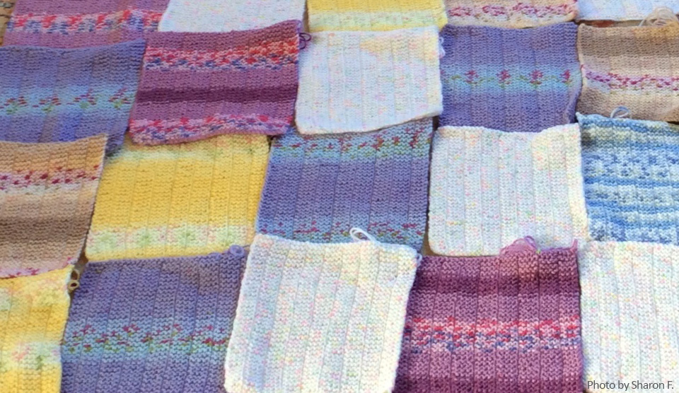 Free crochet and knitting patterns – Knit-a-square